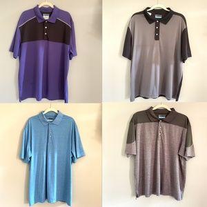 Bundle of Four (4) PGA Tour Men's Golf Polo Shirts